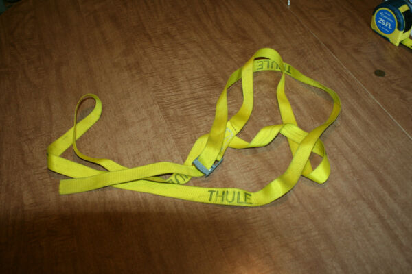 Genuine Thule 9#x27; Yellow Cinch Strap Tested Works Cargo Hold Down 1quot; See Pix $12.99