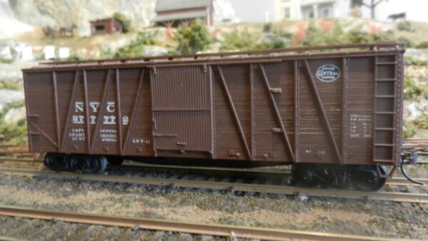 Accurail HO New York Central Wood OB 40#x27; Boxcar Upgraded EX $16.00