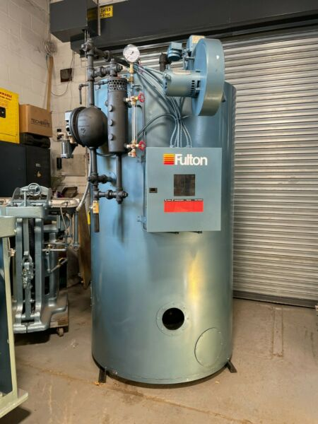 2003 30HP low pressure gas fired Fulton steam boiler for bakery or craft brewery $10000.00