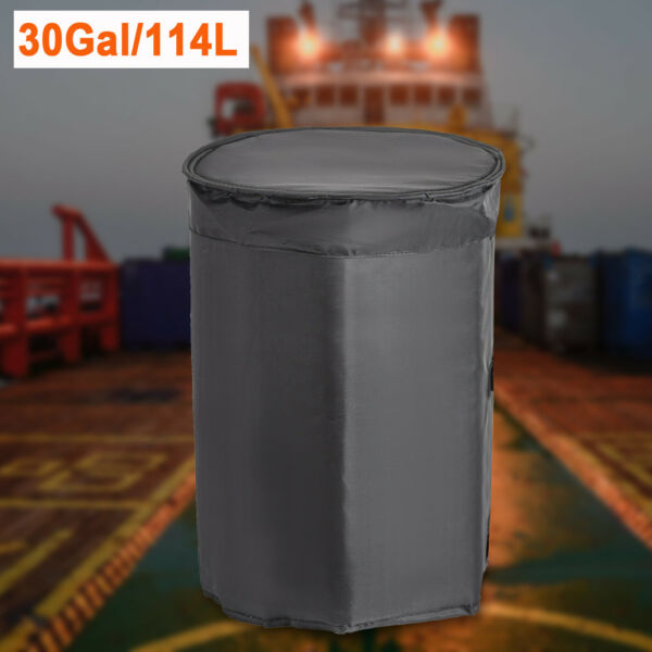 30 Gallon Insulated Drum Heating Blanket Barrel Heater w Fixed Thermostat USA $214.00