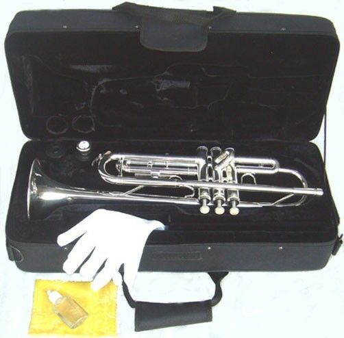 BRAND NEW SILVER STUDENT BAND TRUMPET CASE.APPROVEDWARRANTY.