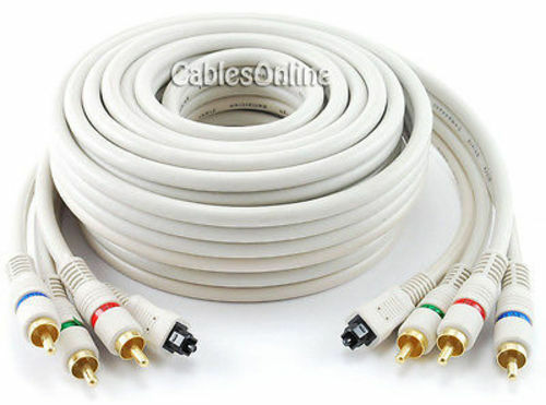 12ft. Python® Toslink Optical Audio & 3-RCA (RGB) Video Component Cable AV-T612