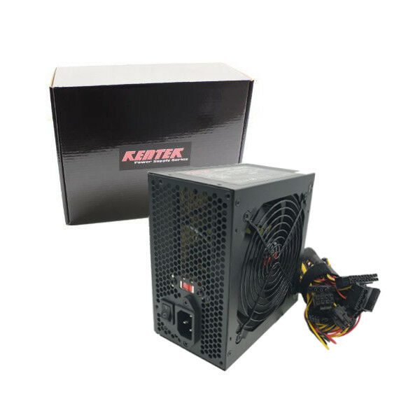 Kentek 600w Watt ATX Computer Power Supply 120mm FAN SATA