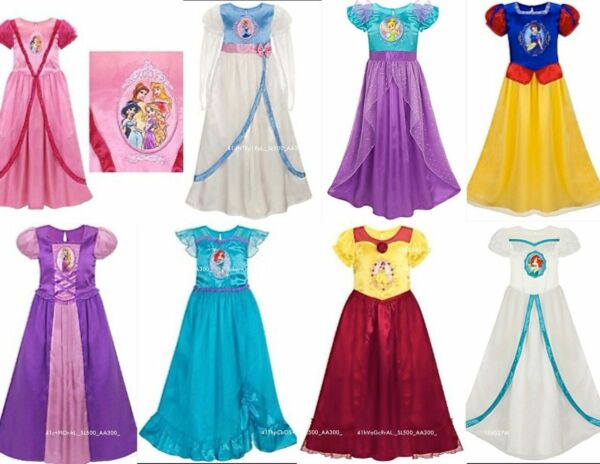 Disney All Princess Deluxe Nightgown Silky Fancy Costume Dress up gown U Pick