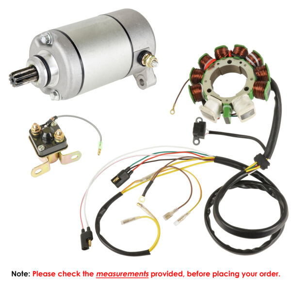 Stator for Polaris Sportsman 500 Starter & Solenoid 1998 1999 2000 2001 Atv New