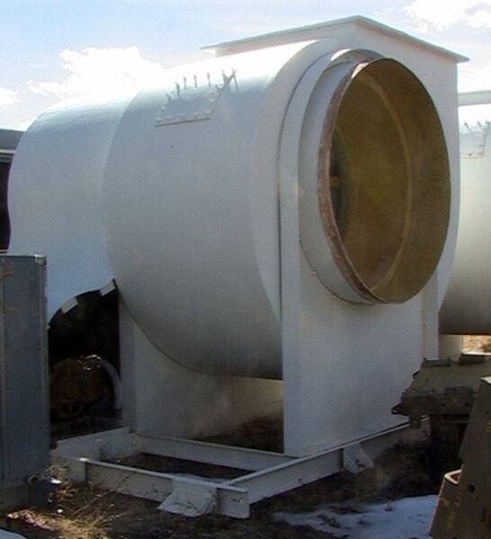 100 Horsepower FRP Chemical Fume Scrubber Blower Fan to 100000 cfm or 12.5