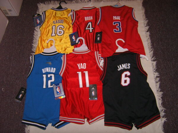 NBA Various Teams & Players Infant Jersey Bodysuit Outfits Sz 12M 18M 24M NWT