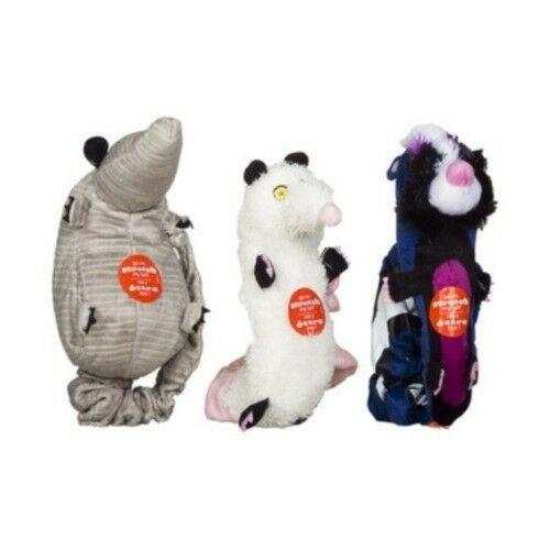 Hartz Backyard Pests Plush Squeaky Pet Dog Toy Squeaker Bungee Tail 1 3 6 12 Qty