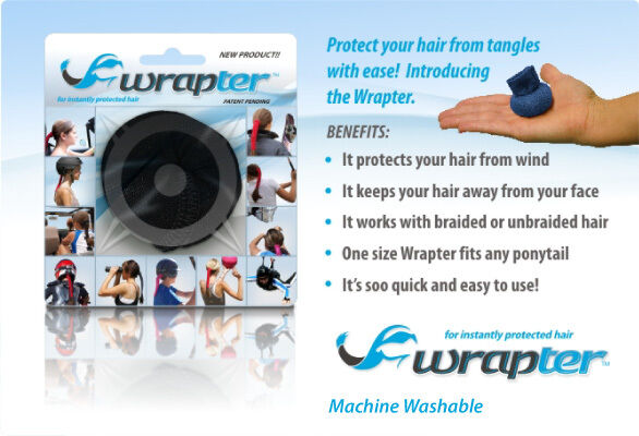 The WRAPTER  Ponytail Holder  Hair Protector  (9 colors)  ControlComfortClean