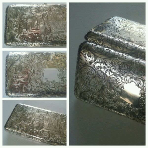 MUSEUM QUALITY ANTIQUE STERLING SILVER CIGAR CASE RAWLINGS & SUMMERSINCREDIBLE