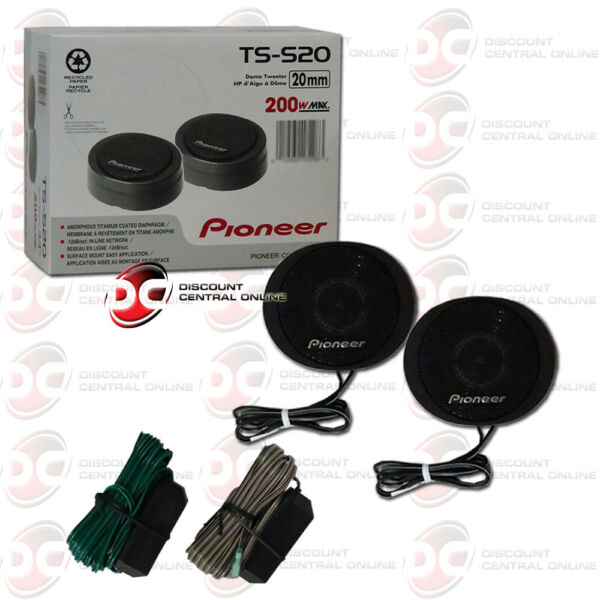 PIONEER TS S20 3 4quot; CAR AUDIO HIGH POWER COMPONENT DOME TWEETERS $49.99