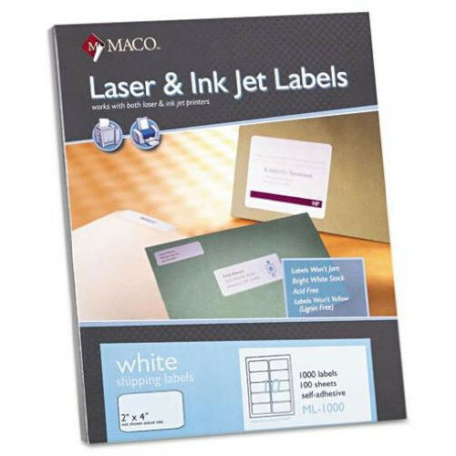 Wholesale for Resale Maco ML-1000 Shipping Labels 2