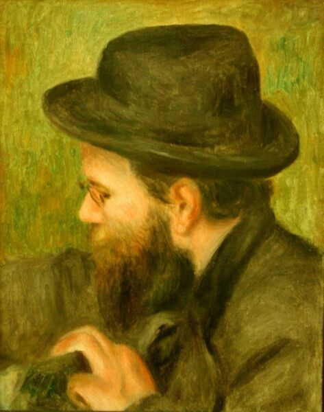 M Bernard man with the black hat by Pierre-Auguste Renoir Giclee Repro on Canvas