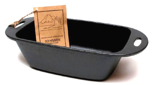 Loaf Pan Pre Seasoned Cast Iron 11 3 4 inches By Old Mountain