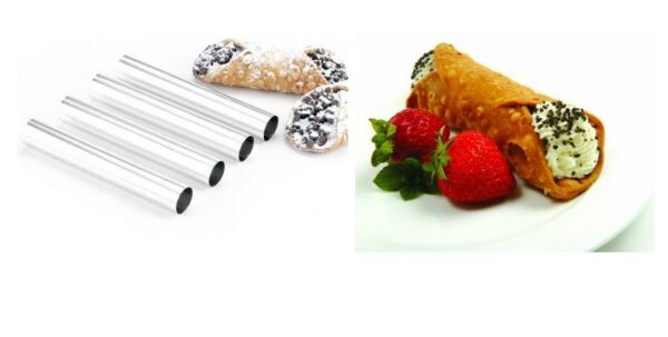 Cannoli Form Mold, Stainless Steel, Set of 4, Create Good Canoli Easily At Home