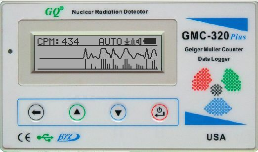GQ GMC 320V4 Geiger Counter Nuclear Radiation Detector Meter Beta Gamma X ray