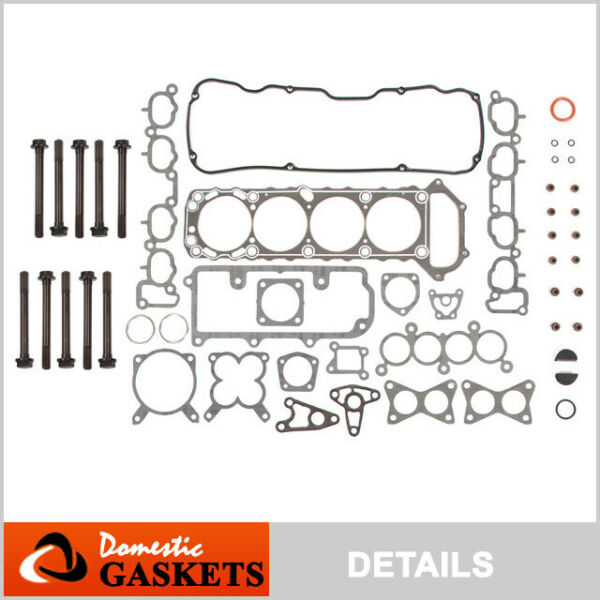 Fits 89-97 Nissan 240SX D21 Pickup 2.4L SOHC Head Gasket Set Bolts KA24E