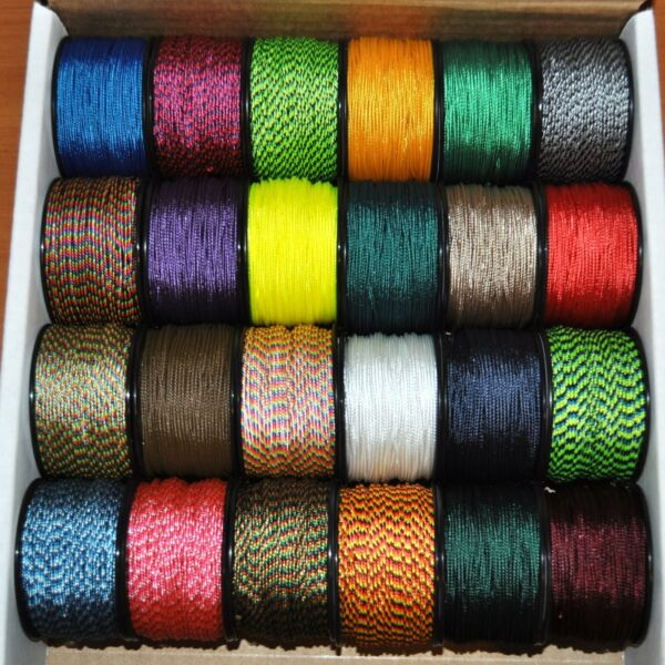 New Many Colors Nylon Micro Cord 1.18mm 364 by 125ft Rope Spool Made in the USA