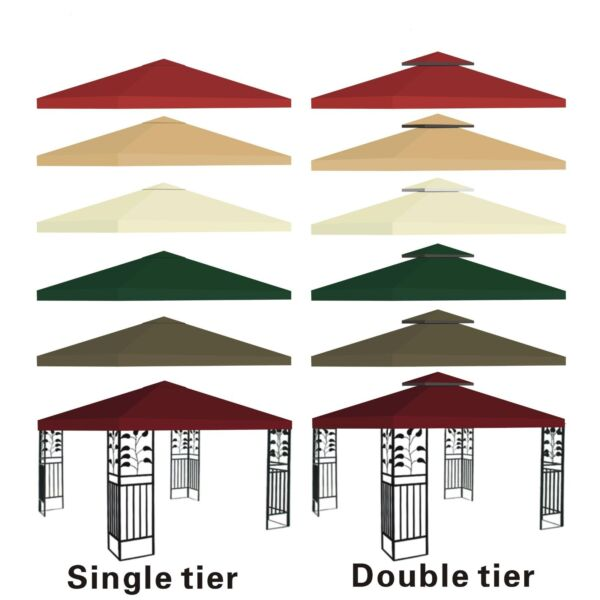 New 10#x27;x10#x27; Replacement Canopy Top Patio Pavilion Gazebo Tent Sunshade Cover UV $60.89