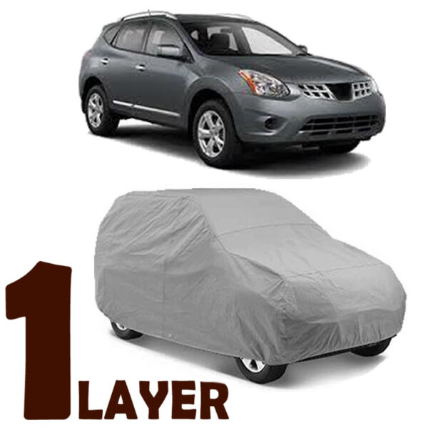 TRUE 1 LAYER GRAY FITTED SUV COVER OUTDOOR WATER SUN RESISTANT for NISSAN ROGUE