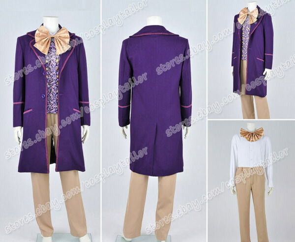 Charlie And The Chocolate Factory Cosplay Willy Wonka Anime Costume Full Set
