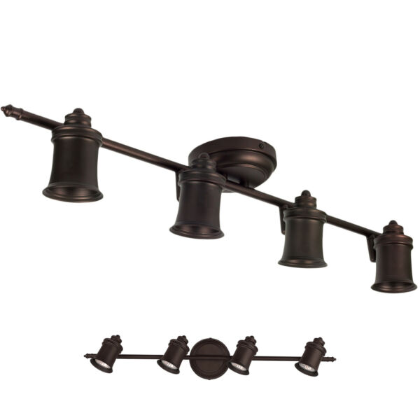 Oil Rubbed Bronze 4 Light Track Lighting Ceiling or Wall Fixture Interior