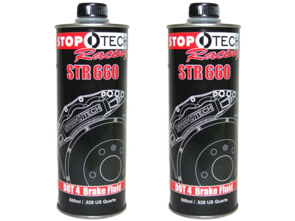 (2x 500mL Cans) Stoptech Racing STR660 High Performance 622F DOT 4 Brake Fluid