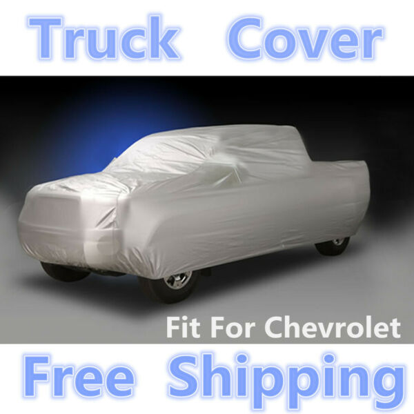 Truck Pickup Car Cover Breathable Sun UV Rain Dust Resistant For Chevrolet 6.5M