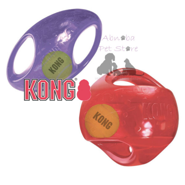 KONG Jumbler Two-In-One Interactive PUP DOG Toy Squeaker Tumbling Interior Ball