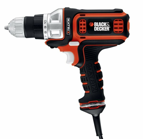 Black  Decker BDEDMT Matrix AC Drill/Driver, New, Free Shipping