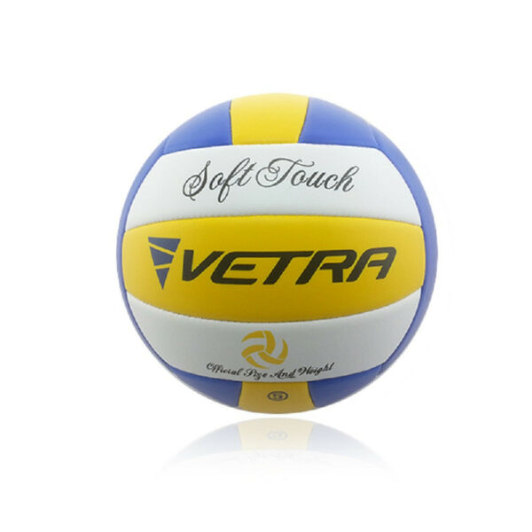 Vetra Volleyball Soft Touch Ball Official YellowBlueWhite Outdoor Indoor Game