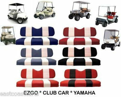 EZGO CLUB CAR YAMAHA Golf Cart TWO TONE Seat Cover Sets $139.00