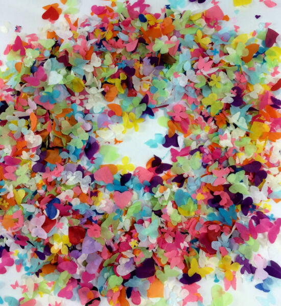 Large Biodegradable Confetti Box - 25 Handfuls Cones Rainbow Colours  Custom