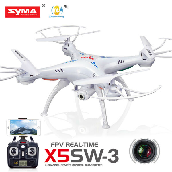 Syma X5SW Wifi FPV Explorers 2.4Ghz 4CH RC Quadcopter Drone HD Camera RTF White