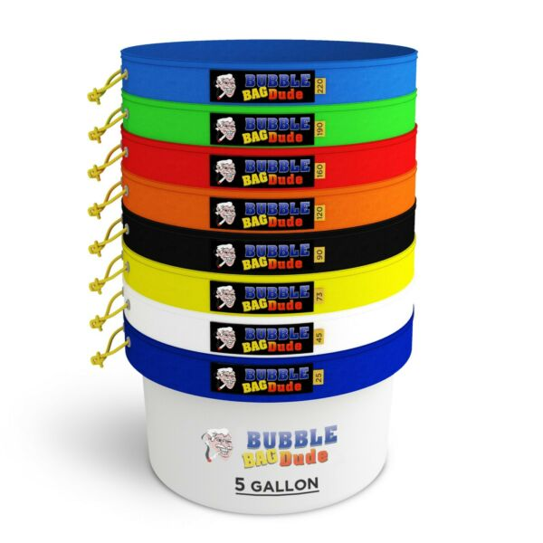 BUBBLEBAGDUDE 5 GAL 8 Bag Kit Bubble ice bags Extractor free pressing screen $53.99