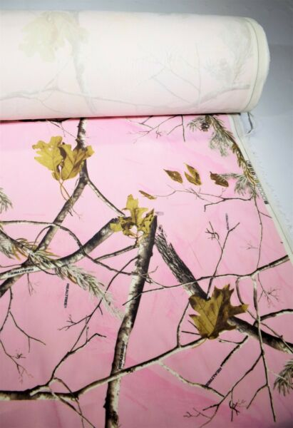 Camo Fabric Realtree AP Pink Flocked Velvet Sueded Upholstery By The Yd Soft 58quot;