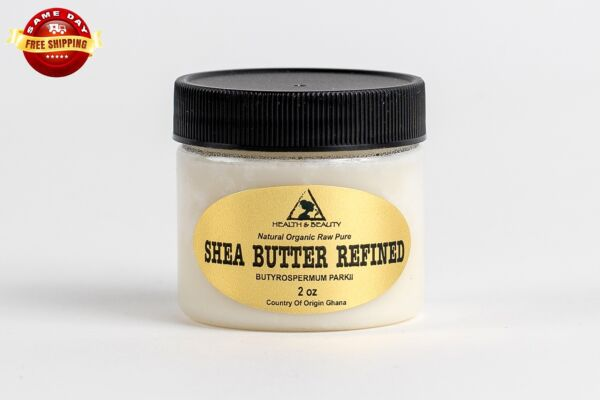 SHEA BUTTER REFINED ORGANIC by H&B Oils Center COLD PRESSED FROM GHANA RAW 2 OZ