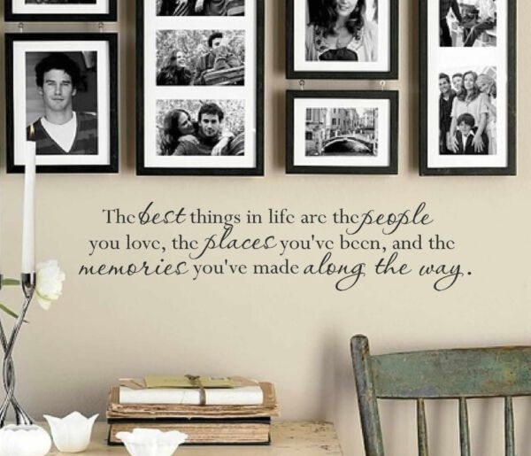 THE BEST THINGS IN LIFE Wall Art Decal Quote Words Lettering Decor DIY Sticker