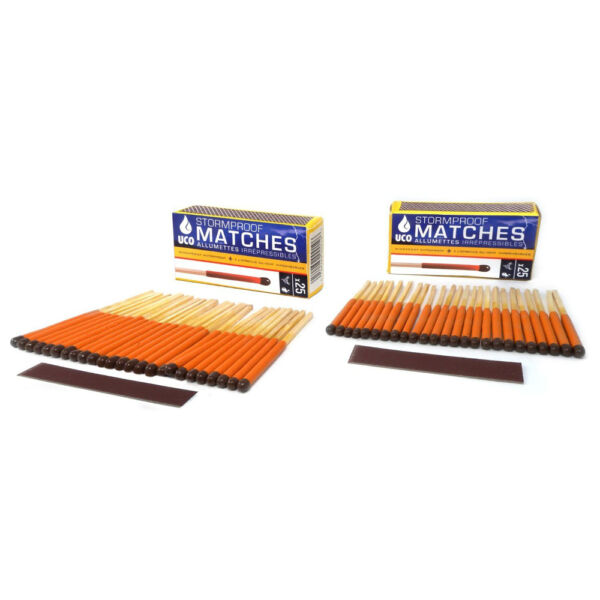 UCO Stormproof Matches Twin pack (50 matches) emergency disaster survival NEW