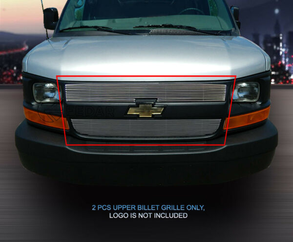Billet Grille Grill For Chevy Express Passenger/Cargo Van 2003-2016