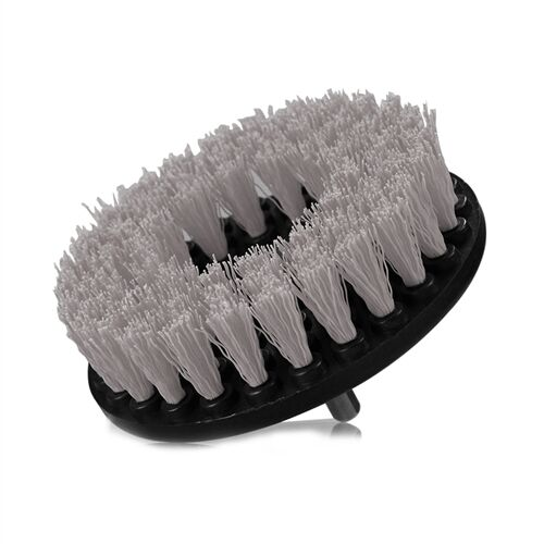 Drill Brush Soft Bristle Use w Power Drill Upholstery Cleaning