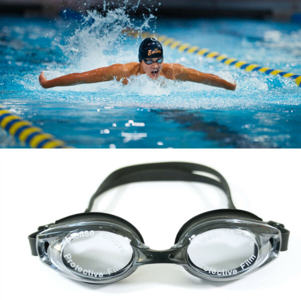 Black UV Protection Anti Fog Swimming Swim Goggle Glasses Adjustable Competition