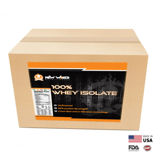 3lb Bulk Whey Protein ISOLATE NOT concentrate Manufacturer Direct UNFLAVORED
