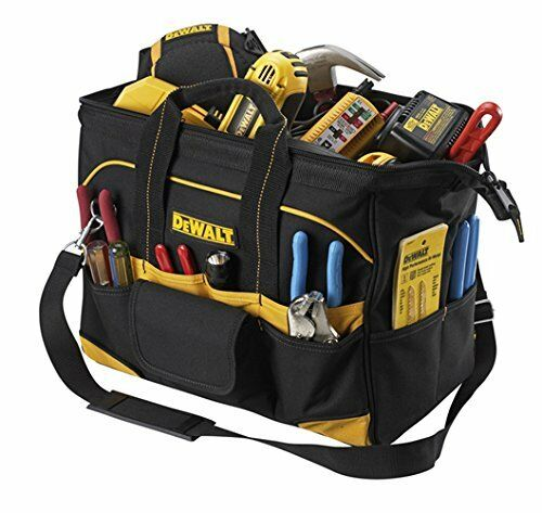 DEWALT 16-Inch Tradesman's Tool Bag Large Compartment Husband Dad Father GIFT