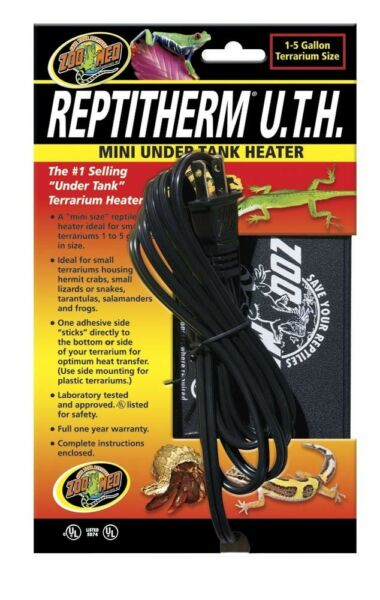 Zoo Med ReptiTherm Under Tank Heater Mini 1 5 gal 4quot;x 5quot; $17.99