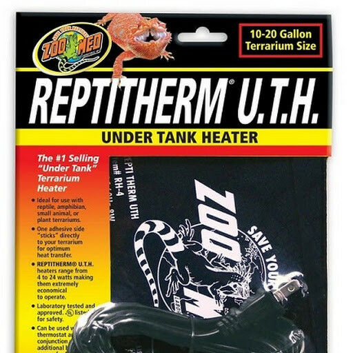 Zoo Med ReptiTherm Under Tank Heater RH 4 Small 10 20 gal 6quot; x 8quot; $21.99