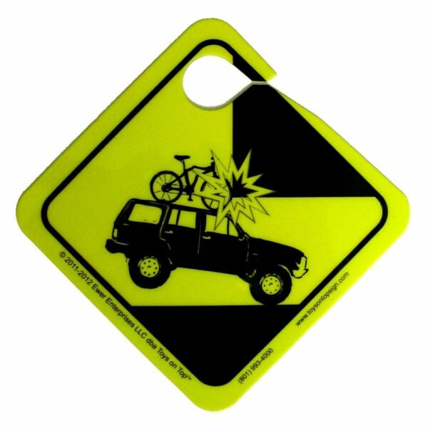 Toys on Top Roof Rack Sign Bike Garage Warning Reminder for Thule Yakima Car $6.17
