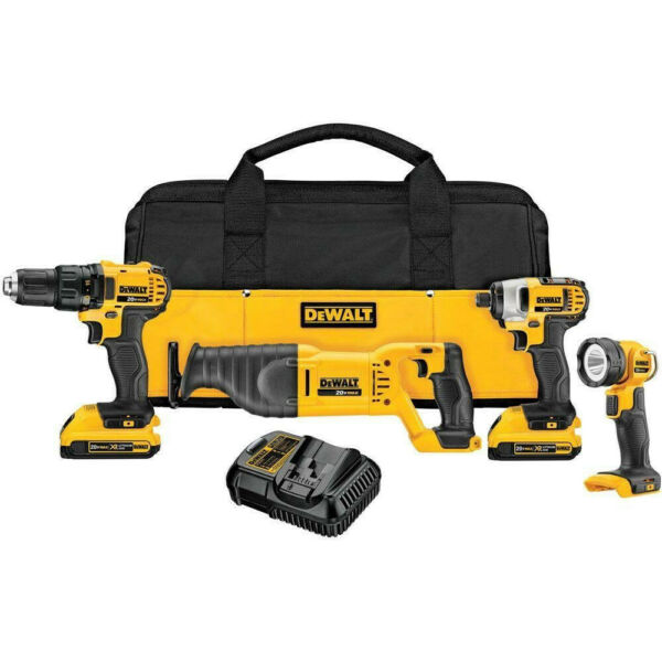 DEWALT 20V MAX Li-Ion 4-Tool Combo Kit DCK420D2 Reconditioned