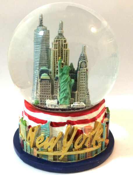 New York City Snow Globe 4 Inch (80mm)  Statue of liberty & U.S. Frag WG194