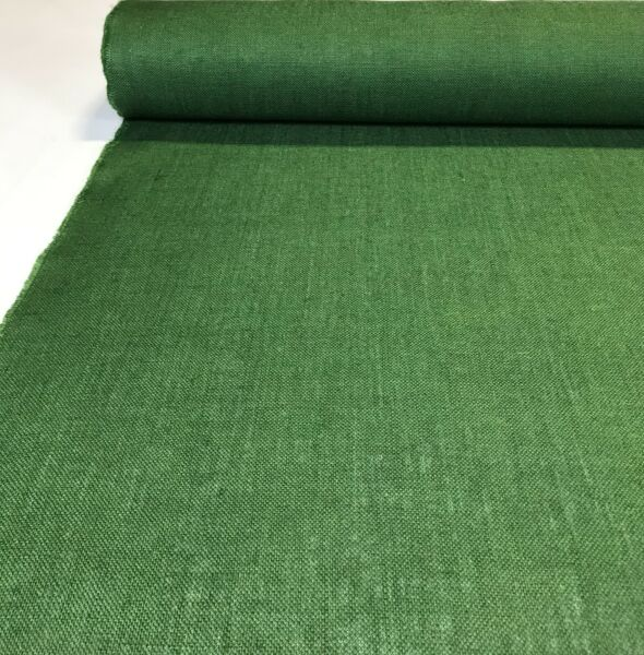 """Burlap Jute Fabric 11 Oz Forest Green By The Yard 56"""" W Table Runner Upholstery"""